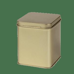 Goud Vierkant Blik 100g Met Scharnierdeksel