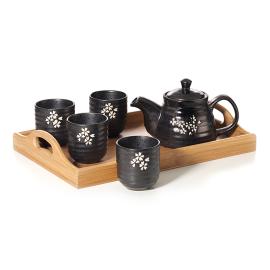 Tea Set 6 Pcs Stone Ware Chacult