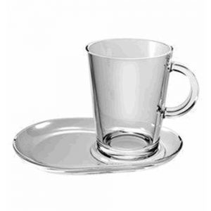 Kop En Schotel Tea Treasure 40 Cl – 9 Cm Transparant 2 Stuks